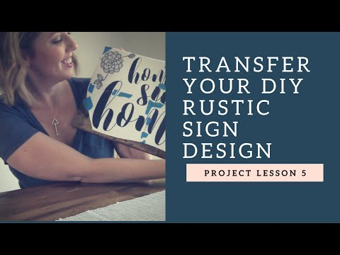 How to Transfer Letters onto a Rustic Wood Sign!