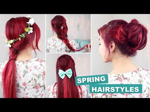 QUICK & EASY HEATLESS HAIRSTYLES FOR SPRING! 🌸