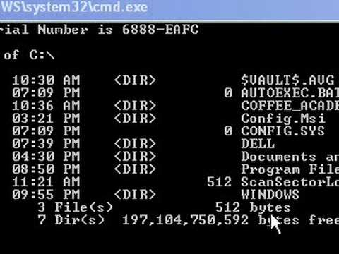 Change drive letters or directories in the dos command cmd window