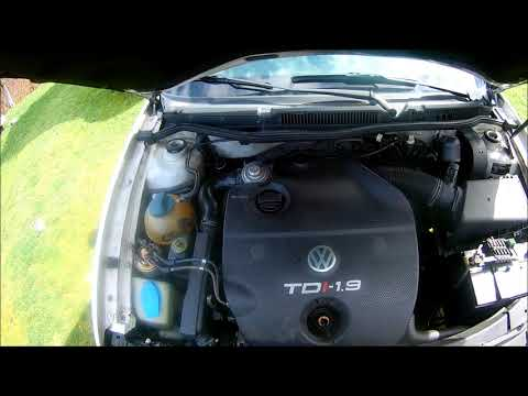 Golf Mk4 1.9 TDI How to check Engine and Steering Wheel Oil Level !