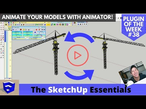 MOVING ANIMATIONS in Your SketchUp Model with Animator - SketchUp Plugin of the Week #38