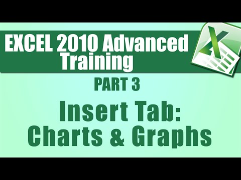 Microsoft Excel Tutorial Advanced - Part 3 - Using the Insert Tab to Help Create Charts and Graphs