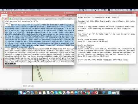 Import XML into Mysql Server