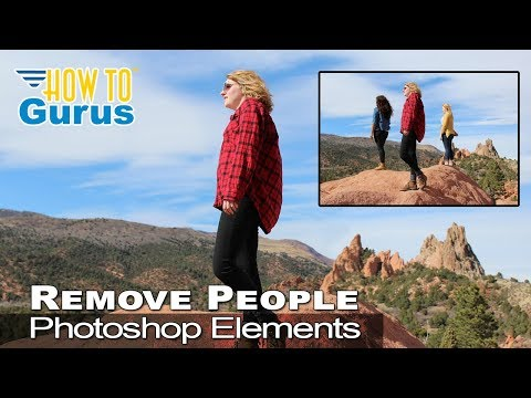 How to Remove People using Clone Stamp in Adobe Photoshop Elements 2018 15 14 13 12 11 Tutorial