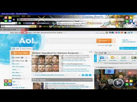 How to make Google, AOL, Yahoo, etc, your home page on firefox