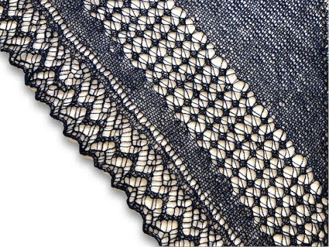 How to Wet Block a Knitted Lace Shawl