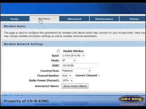 Procedure on how to configure DHCP Connection in CW-8196 using Windows 7