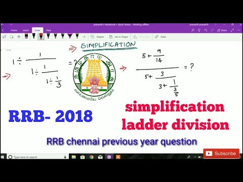 RRB group-D 2018 ladder division| continuous fraction  by iGriv IAS Academy