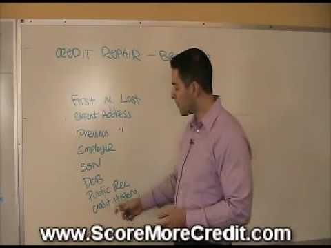 Credit Repair - Mistakes on your credit report.
