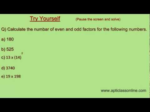Finding Even and Odd factors of any Number - Simple and Easy Trick