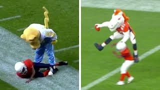 The BEST OF Pee-Wee Football Kids vs. Mascots (Surprise NFL Superstar as a Child) II COMPILATION