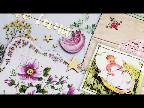 Baby Scrapbook Process | Creating A First Year Baby Book | Ep 04 | 12x12 Layout | Title Page