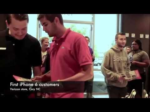 First iPhone 6 customers at Verizon store in Cary, NC