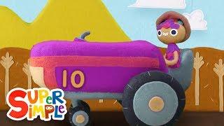 10 Little Tractors | Kids Songs | Super Simple Songs