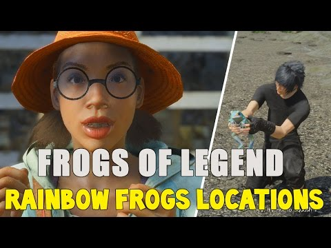 Final Fantasy XV All 5 Rainbow Frog Locations (The Frogs Of Legend Sidequest Guide)