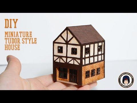 DIY MINIATURE TUDOR STYLE HOUSE