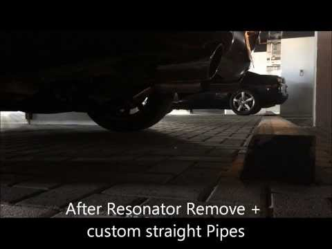 My Infiniti G37s 2008 Custom Straight Pipes + Resonator Delete ( Before and After )