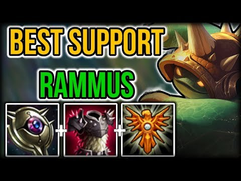 Best Rammus Support NA - Tank Rammus Support Commentary Guide - League of Legends