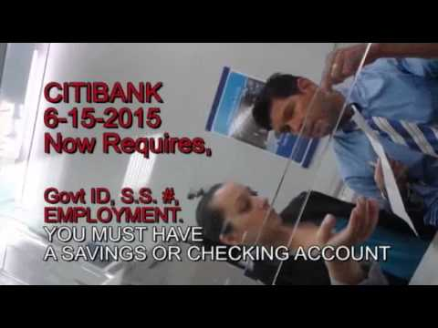 CITI BANK Require ID's To Pay Credit Card BILL