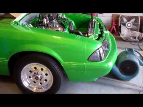 SYNERGY GREEN 1993 MUSTANG NOTCHBACK 408 STROKER DYNO WHIPPING 492 RWHP ALL MOTOR 660 ON SPRAY