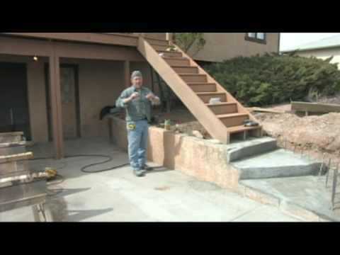 How to Build a Deck : Building a Deck: Stair Posts