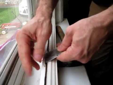 Broken Window Pane Replacement: Step #2, removing the old glazing