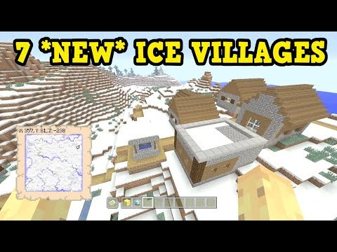 Minecraft Xbox 360 / PS3 TU60 SEED - 7 ICE VILLAGES