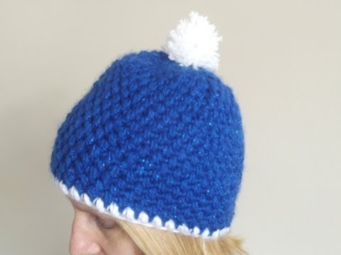 How to Crochet a Hat in Puff Stitch