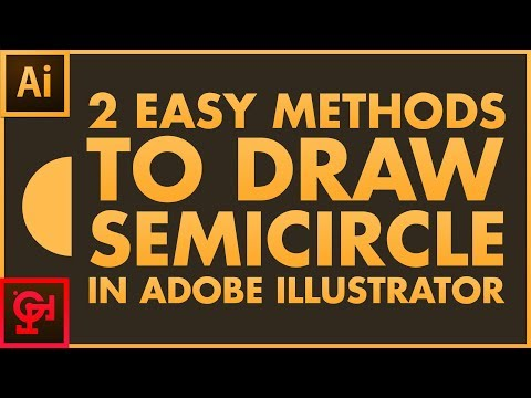 How to Draw Half Circle in Adobe Illustrator - Semicircle Tutorial