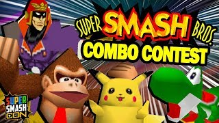 THE BEST SMASH 64 COMBOS!!   Smash Con 2019 Smash 64 Combo Contest Highlights