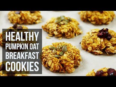 Healthy Pumpkin Oat Breakfast Cookies | Easy On-the-Go Breakfast Recipe by Forkly