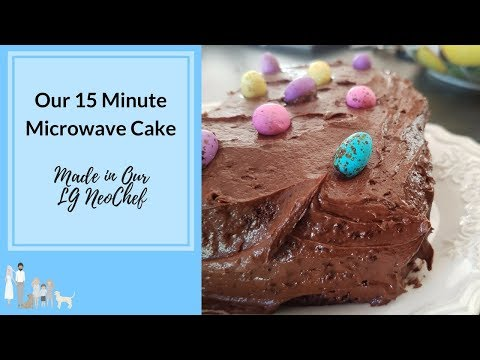 15 Minute Microwave Cake In Our LG NeoChef