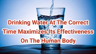 Drinking Water At The Correct Time Maximizes Its Effectiveness On The Human Body