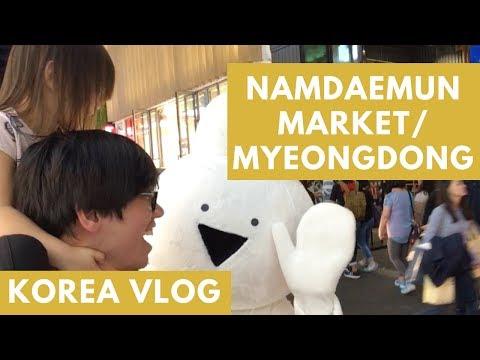 KOREA VLOG - Namdaemun Market & Myeongdong Shopping Street