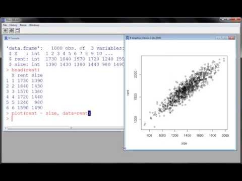 R - Simple Linear Regression (part 1)