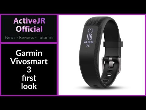 Garmin Vivosmart 3 first look // Is this better than a Fitbit // best fitness tracker 2017 ?