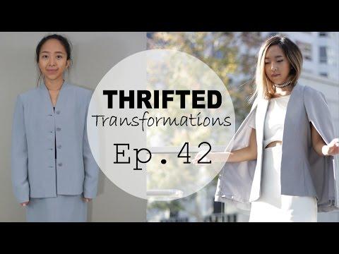 DIY Cape Blazer | Thrifted Transformations Ep. 42