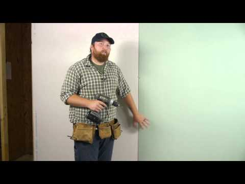How to Install Green Board Drywall : Wall Repair