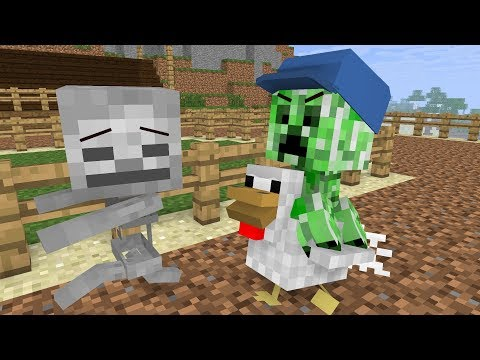 Monster School: Animal Riding - Minecraft Animation