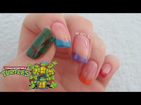 Teenage Mutant Ninja Turtles Nail Art Design | TheGypsyBox