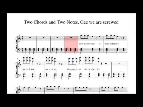 Two Chords and Two Notes. Gee we are screwed - Violin Cover