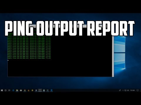 How To Save Ping Output Report in notepad Automatically