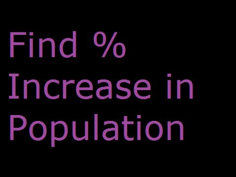 Percentage - Solved Example - Find % increase in Population - Easy