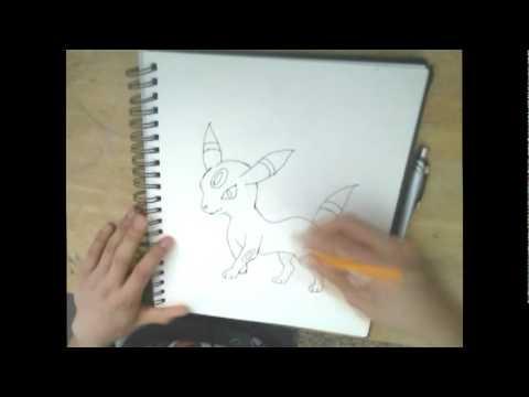 Shiny Umbreon Drawing