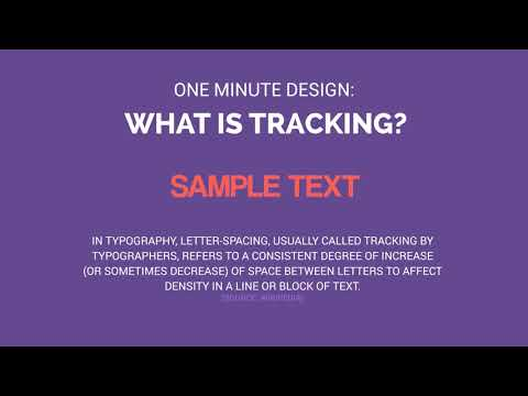 One Minute Design: What Is Tracking?