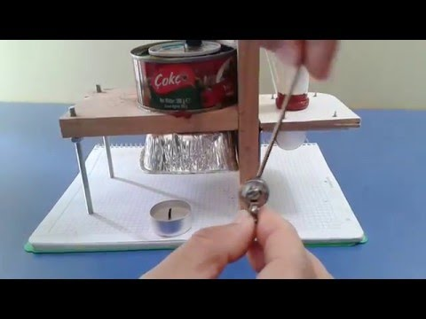 stirling gamma engine with homemade power piston&cylinder