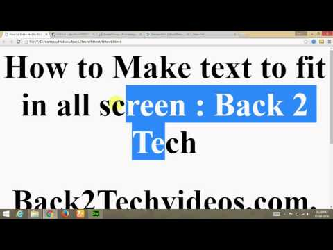 [Hindi] Make text to fit in all screen using fittext (jquery plugin) in html