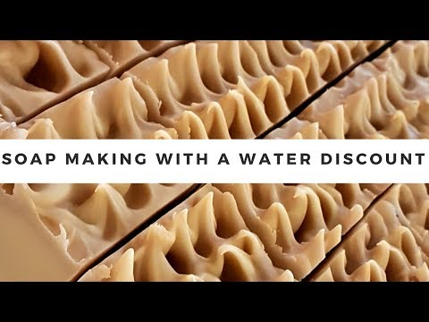 Soap Making with a 50% water discount