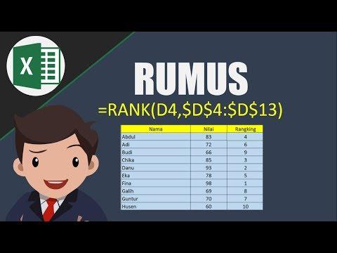 Mudah.. membuat Rumus Ranking di Ms. Excel