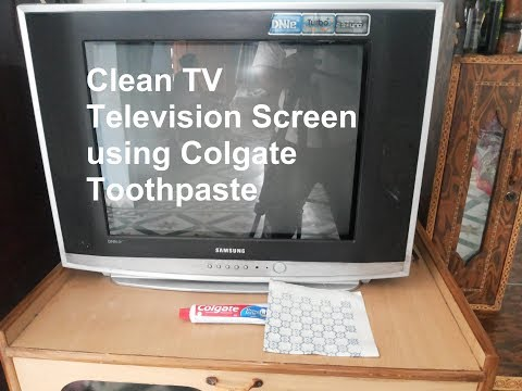 Clean and Shine TV Television Screen using Colgate Toothpaste
